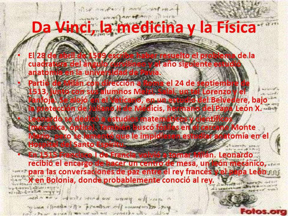 Da Vinci, la medicina y la Física