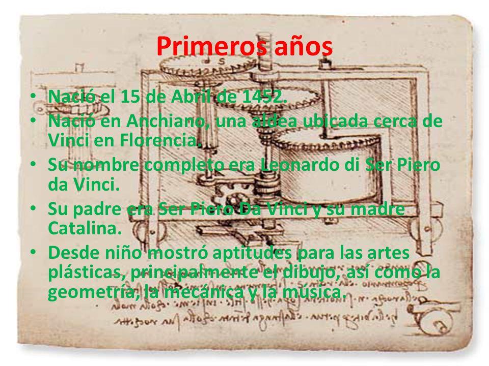 Primeros años Nació el 15 de Abril de 1452.