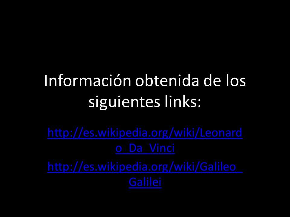 Información obtenida de los siguientes links: