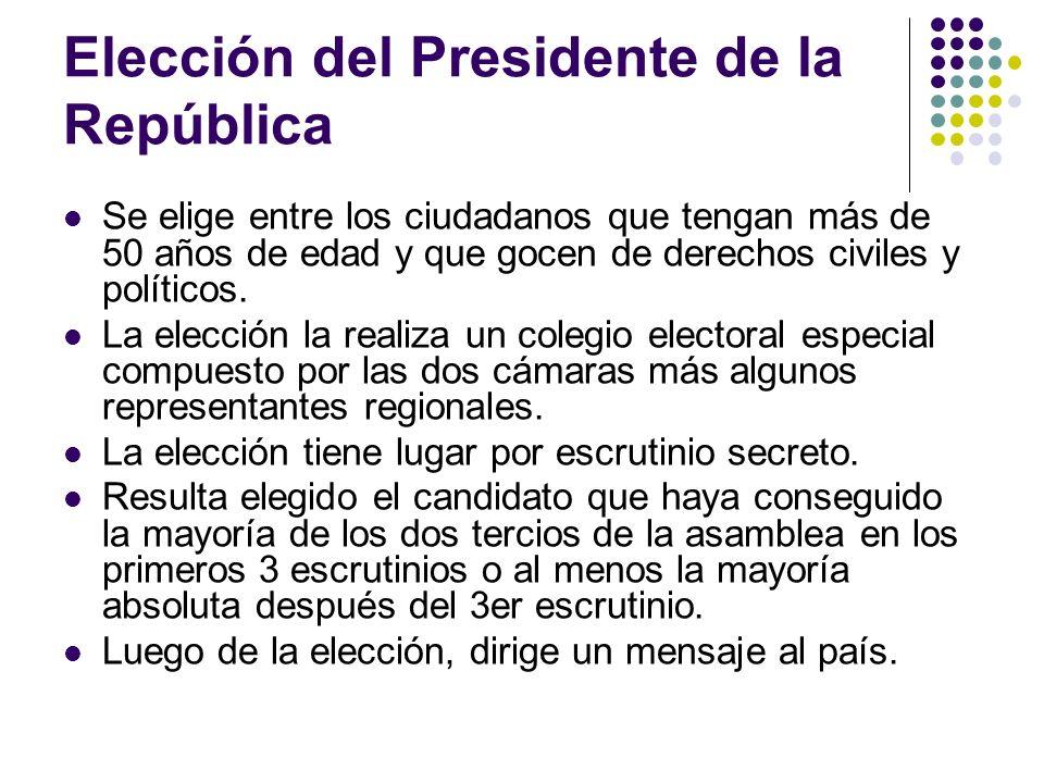 Elección del Presidente de la República