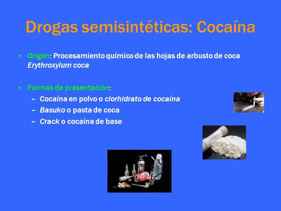 Drogas semisintéticas: Cocaína