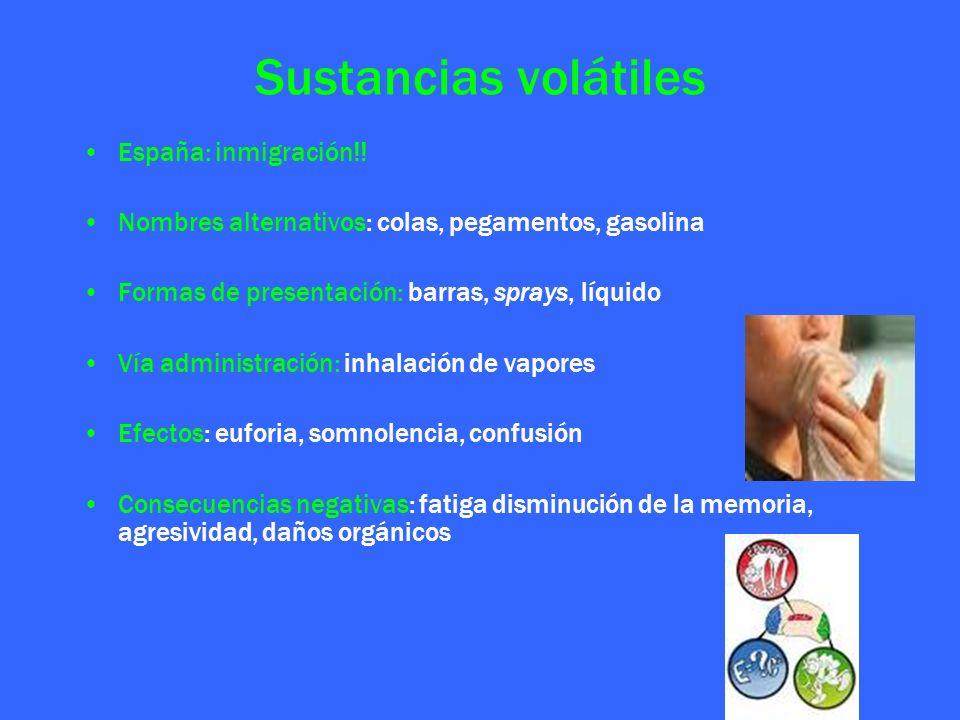 Sustancias volátiles España: inmigración!!