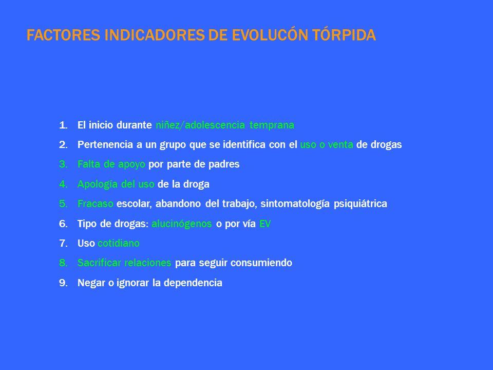 FACTORES INDICADORES DE EVOLUCÓN TÓRPIDA