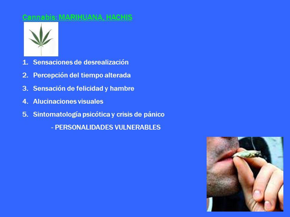 Cannabis: MARIHUANA, HACHIS