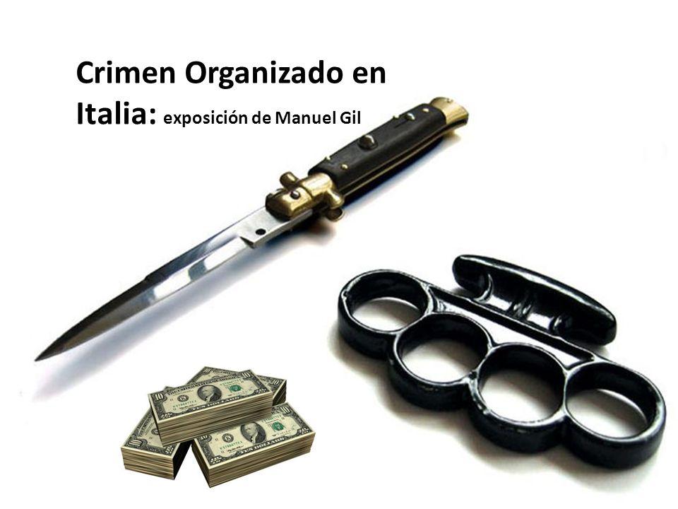 Crimen Organizado en Italia: exposición de Manuel Gil