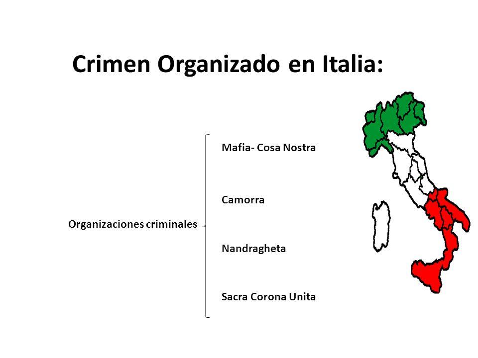 Crimen Organizado en Italia: