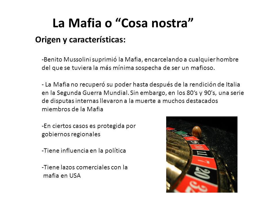La Mafia o Cosa nostra