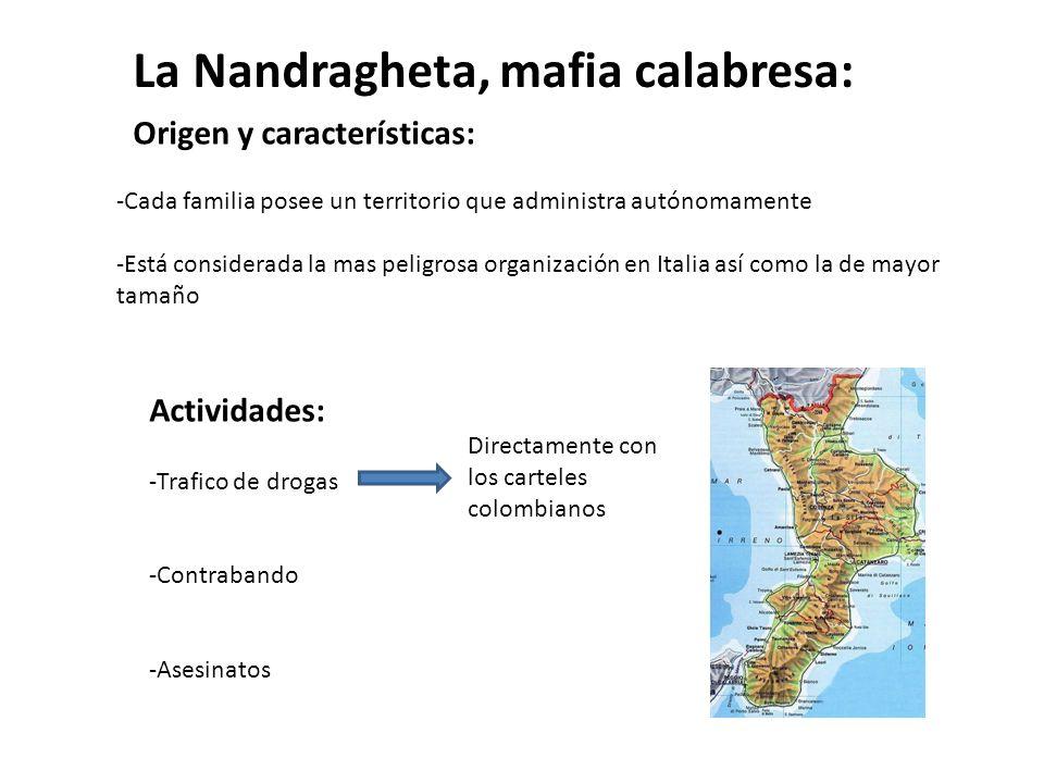 La Nandragheta, mafia calabresa: