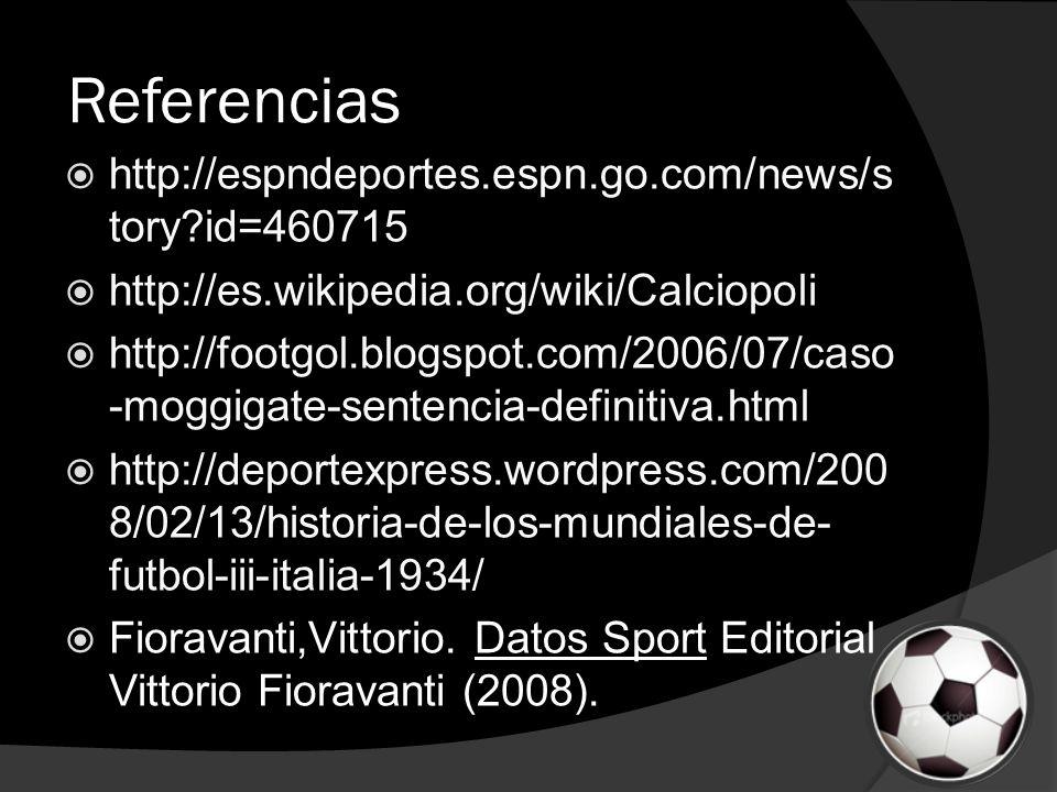 Referencias http://espndeportes.espn.go.com/news/story id=460715