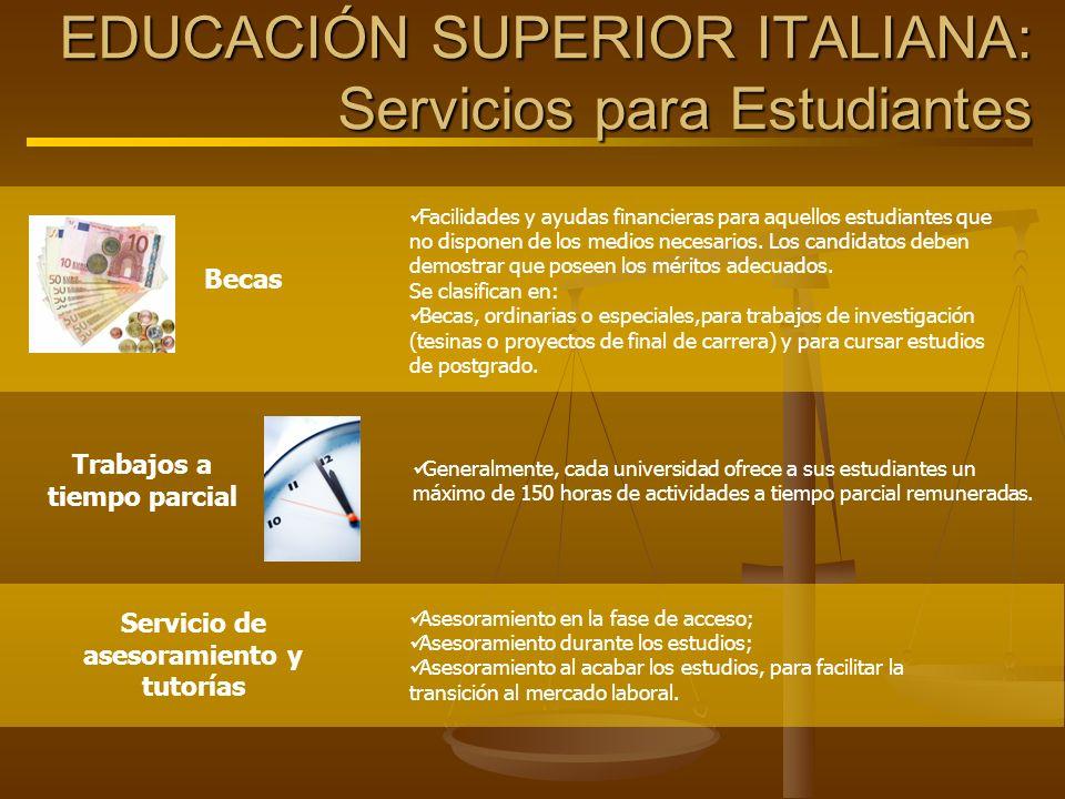 EDUCACIÓN SUPERIOR ITALIANA: Servicios para Estudiantes