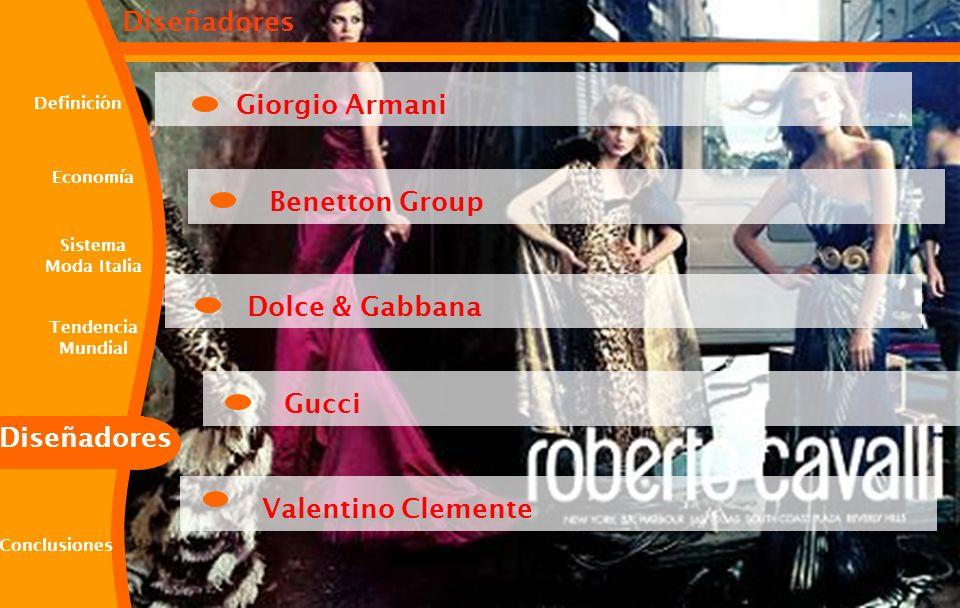 Giorgio Armani Benetton Group Dolce & Gabbana Gucci Valentino Clemente