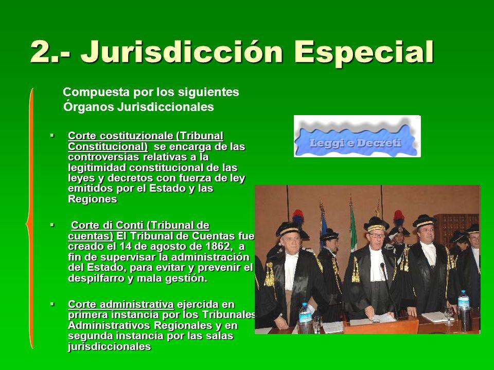 2.- Jurisdicción Especial