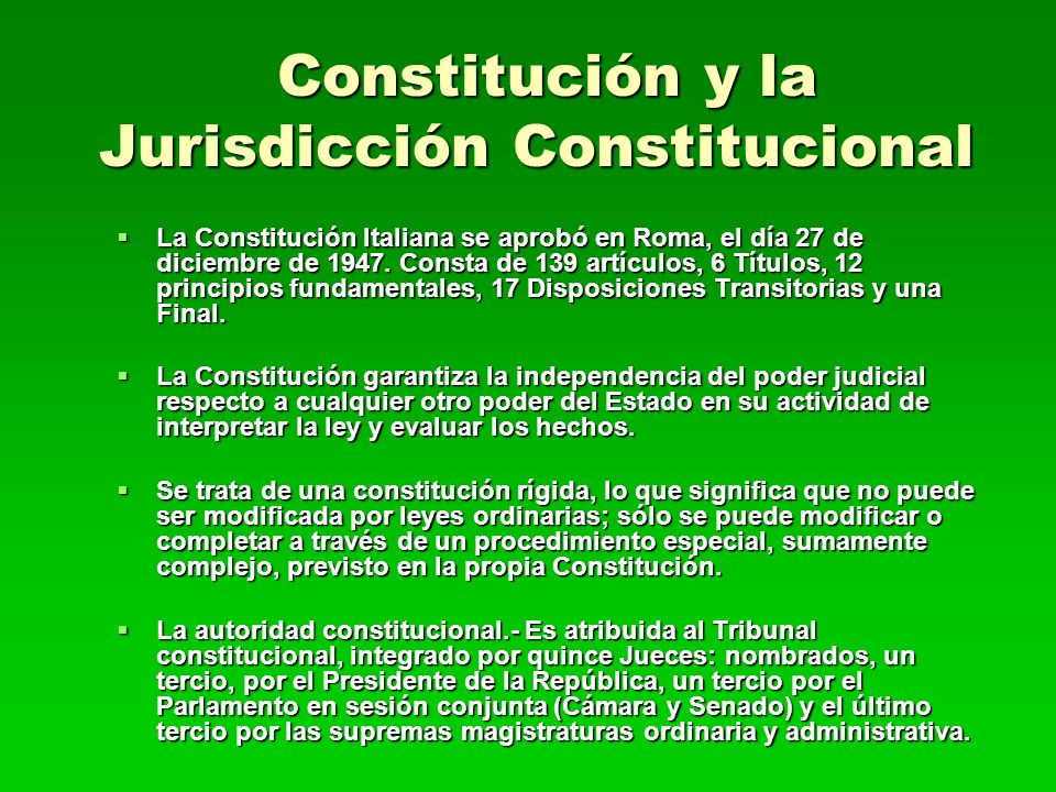 Constitución y la Jurisdicción Constitucional