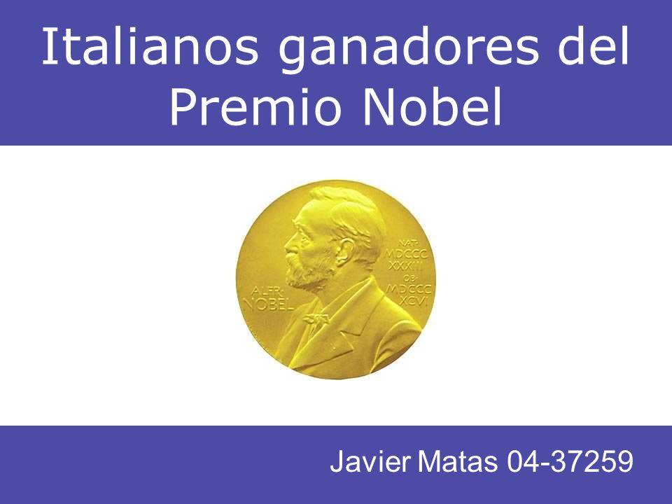 Italianos ganadores del Premio Nobel