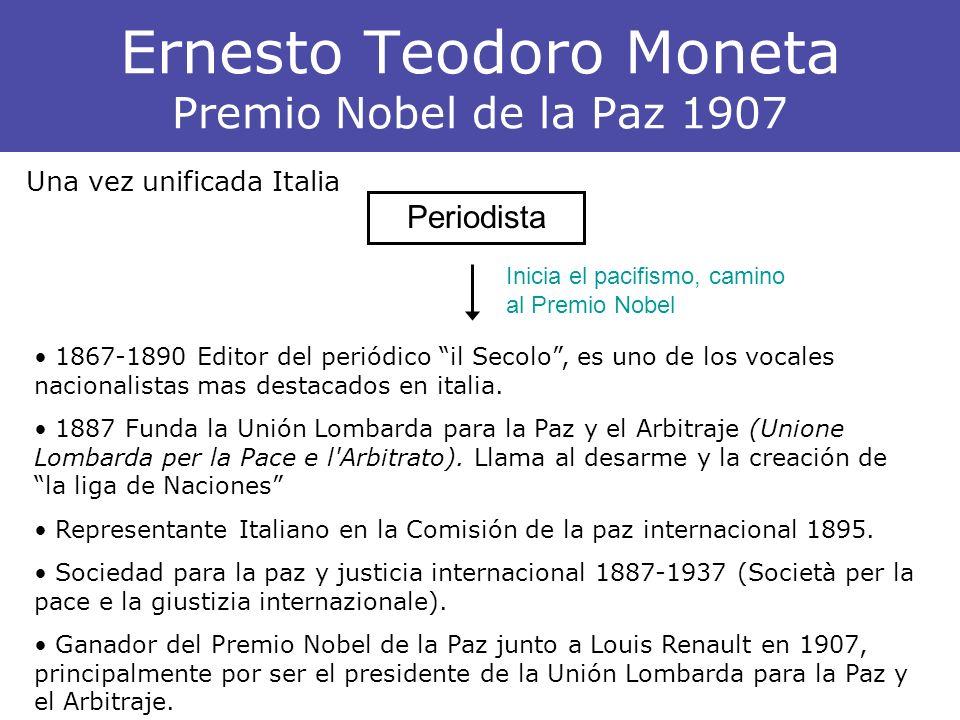 Ernesto Teodoro Moneta Premio Nobel de la Paz 1907