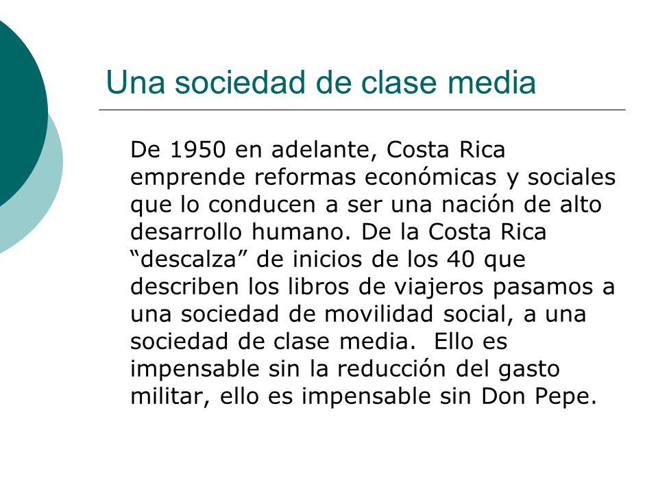 Una sociedad de clase media