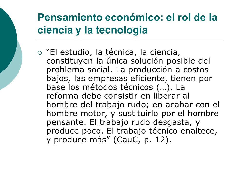 Pensamiento económico: el rol de la ciencia y la tecnología