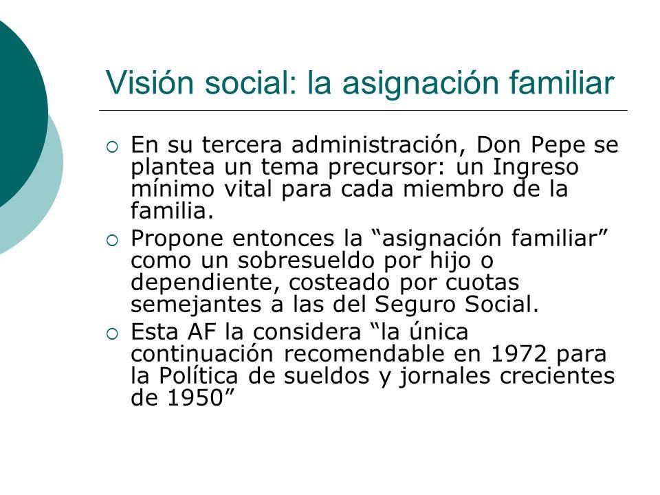 Visión social: la asignación familiar