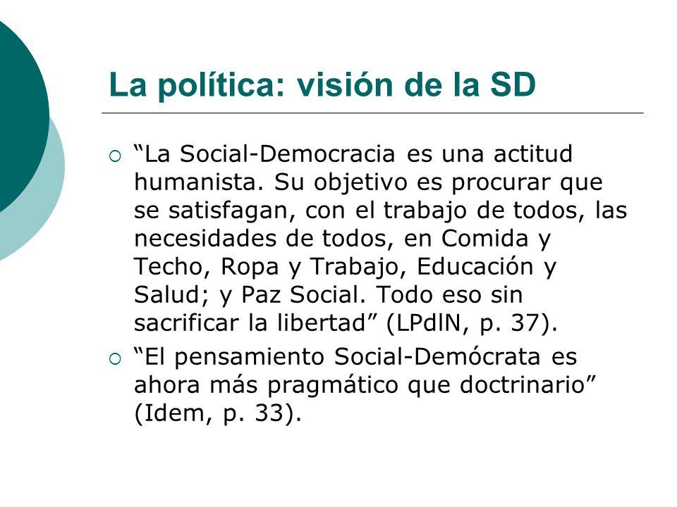La política: visión de la SD