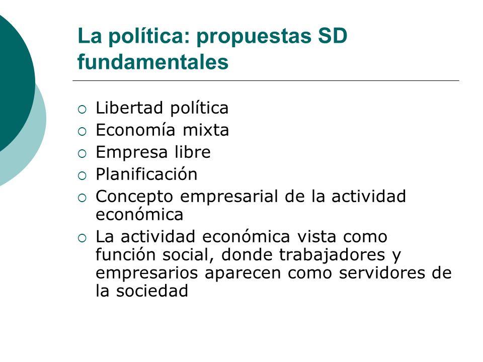 La política: propuestas SD fundamentales
