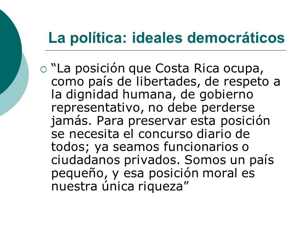 La política: ideales democráticos