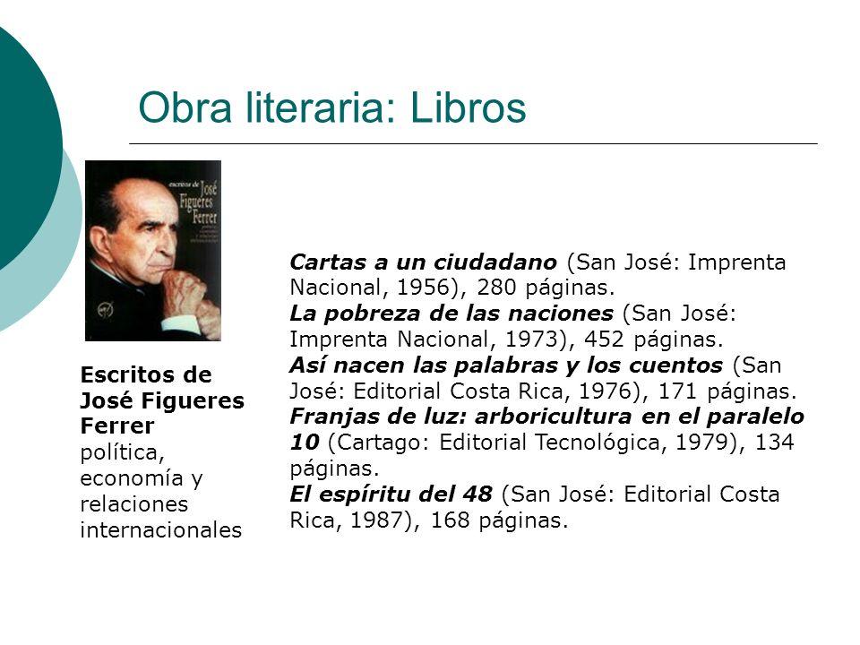 Obra literaria: Libros