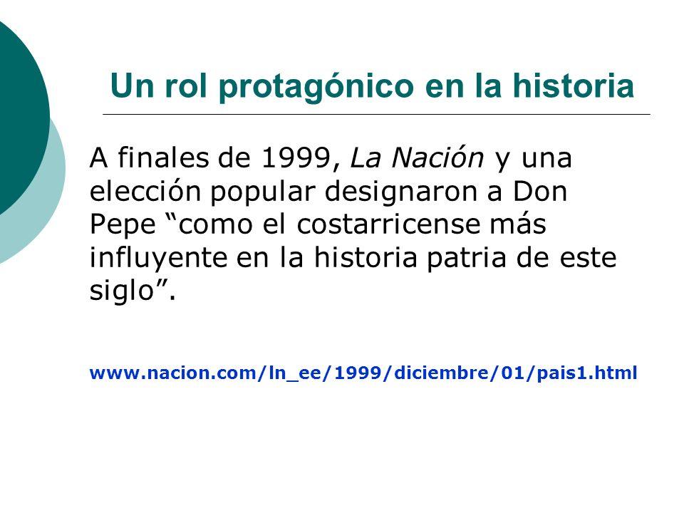 Un rol protagónico en la historia