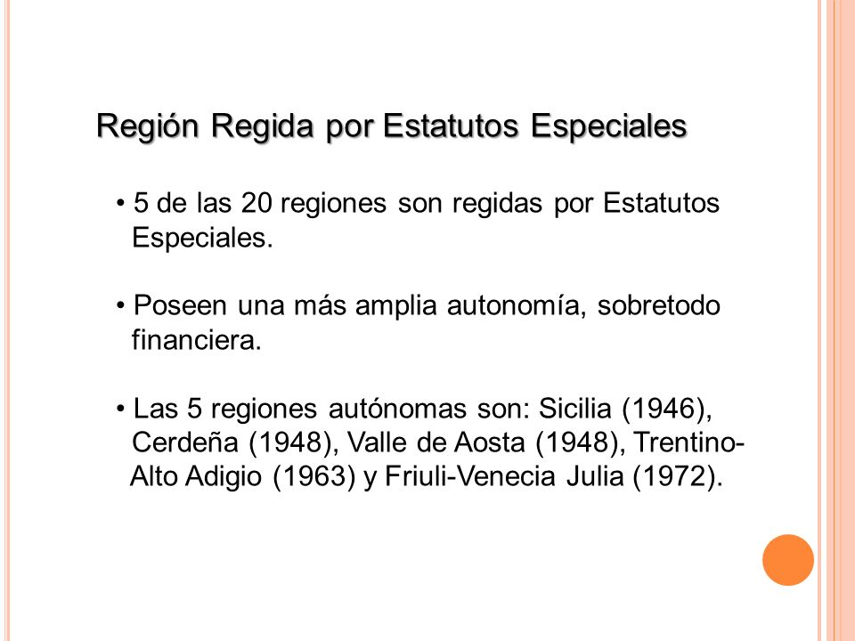 Región Regida por Estatutos Especiales