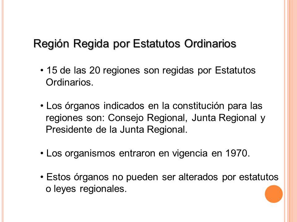 Región Regida por Estatutos Ordinarios