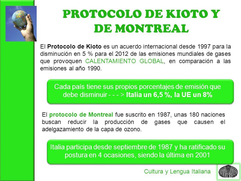 PROTOCOLO DE KIOTO Y DE MONTREAL