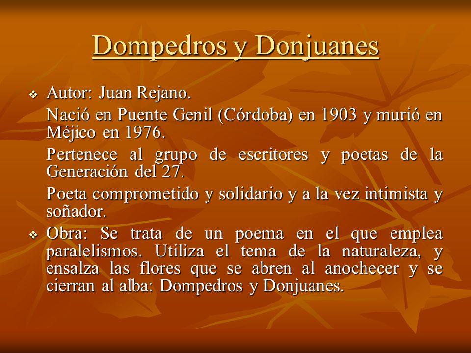 Dompedros y Donjuanes Autor: Juan Rejano.