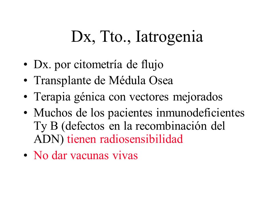 Dx, Tto., Iatrogenia Dx. por citometría de flujo
