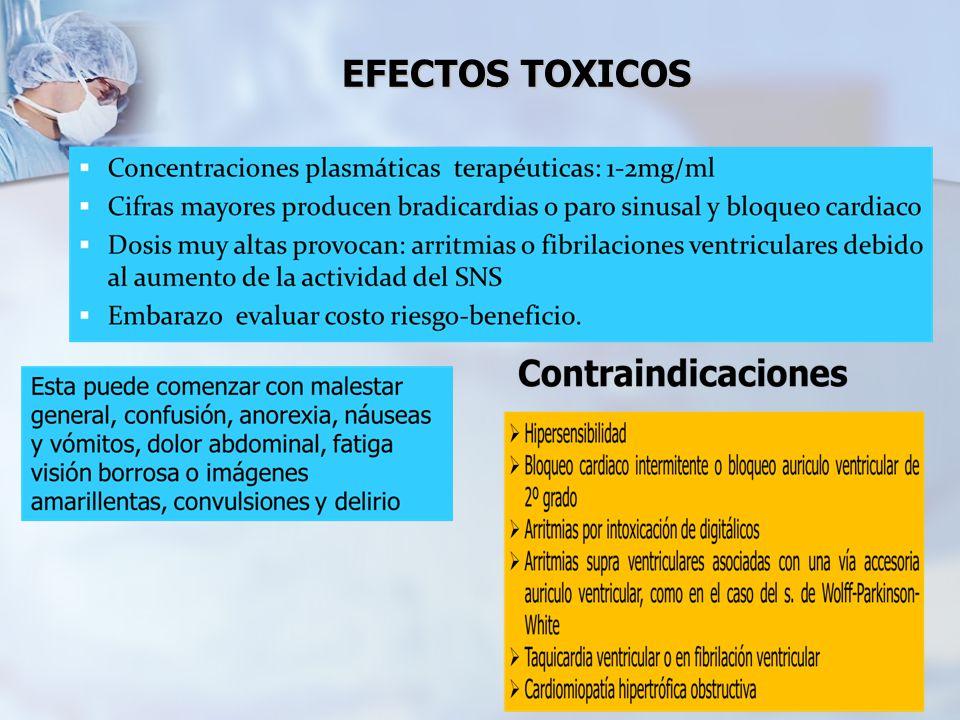 EFECTOS TOXICOS