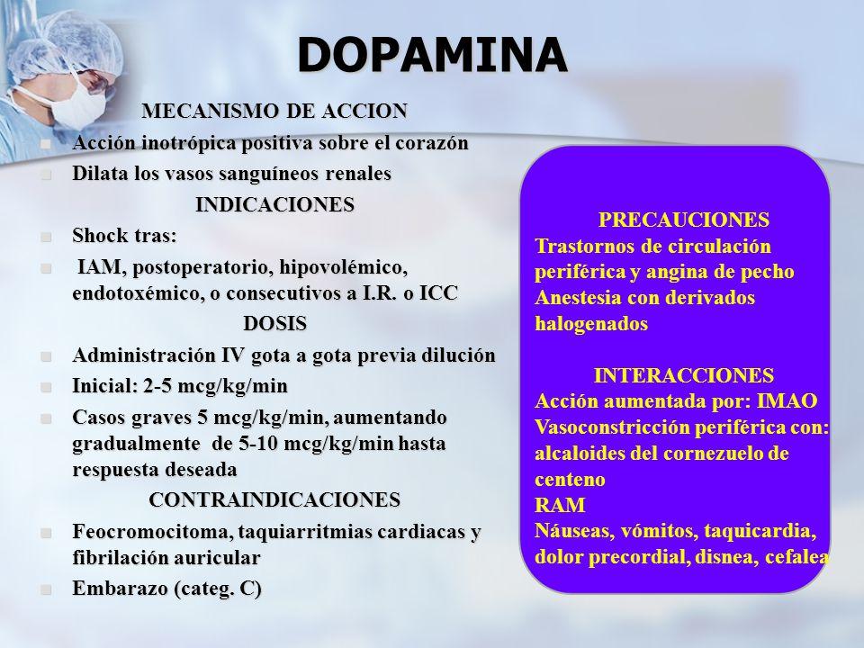 DOPAMINA MECANISMO DE ACCION