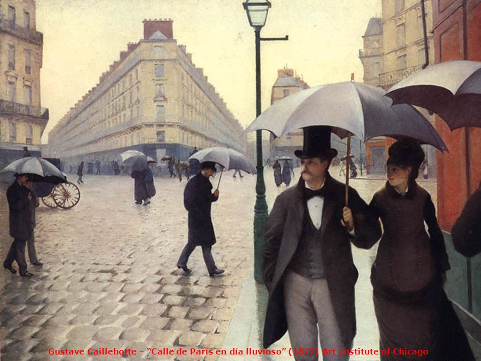 Gustave Caillebotte – Calle de París en día lluvioso (1877) Art Institute of Chicago