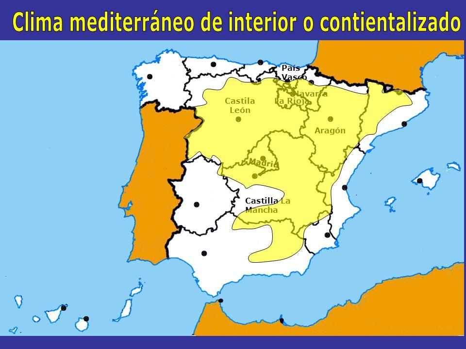 Clima mediterráneo de interior o contientalizado