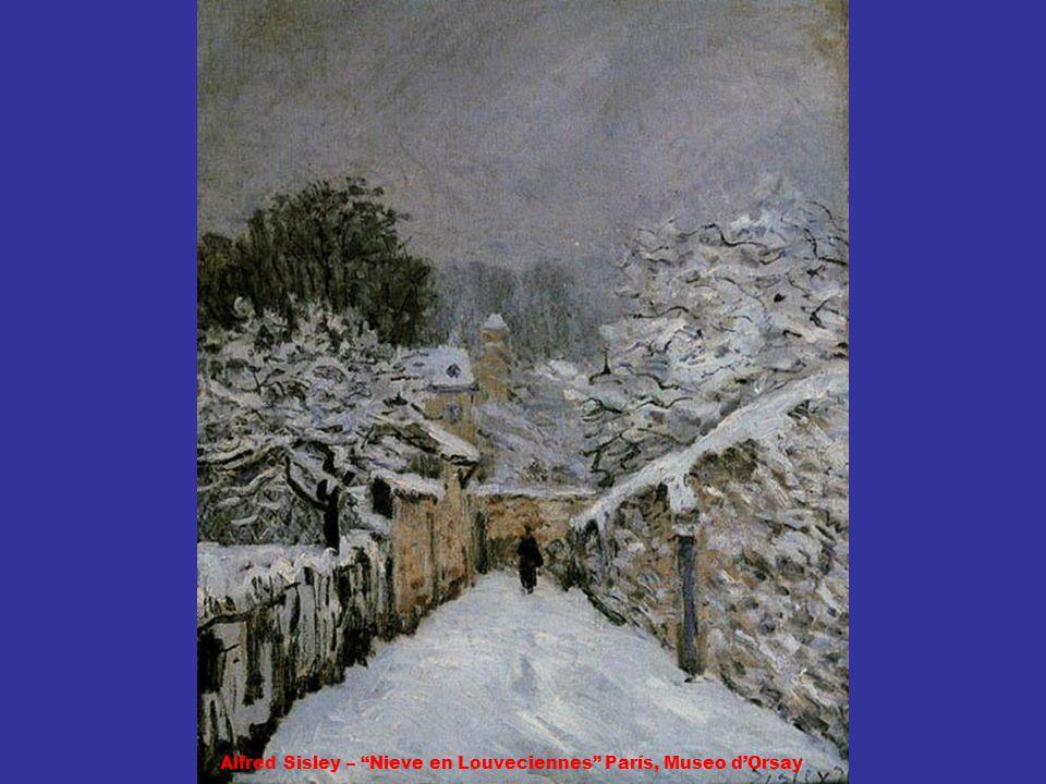 Alfred Sisley – Nieve en Louveciennes París, Museo d'Orsay