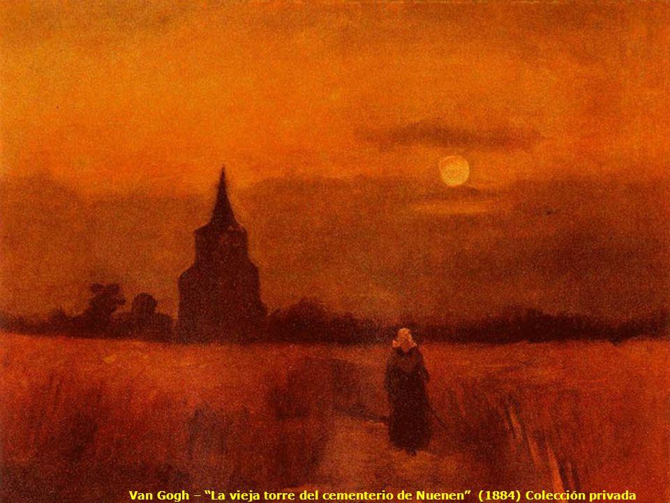 Van Gogh – La vieja torre del cementerio de Nuenen (1884) Colección privada