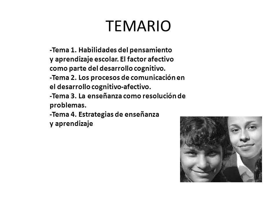 TEMARIO -Tema 1. Habilidades del pensamiento