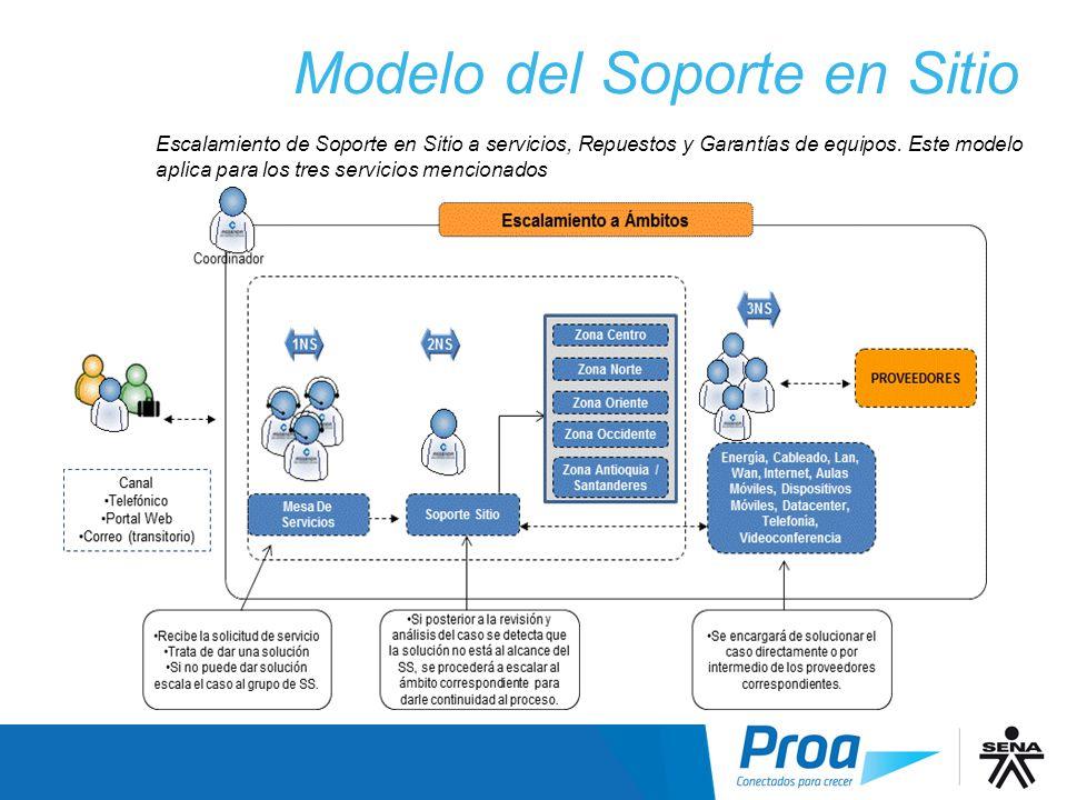 Modelo del Soporte en Sitio