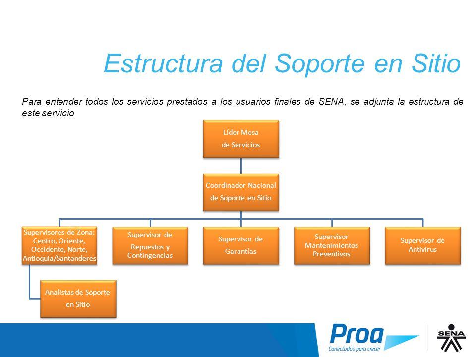 Estructura del Soporte en Sitio