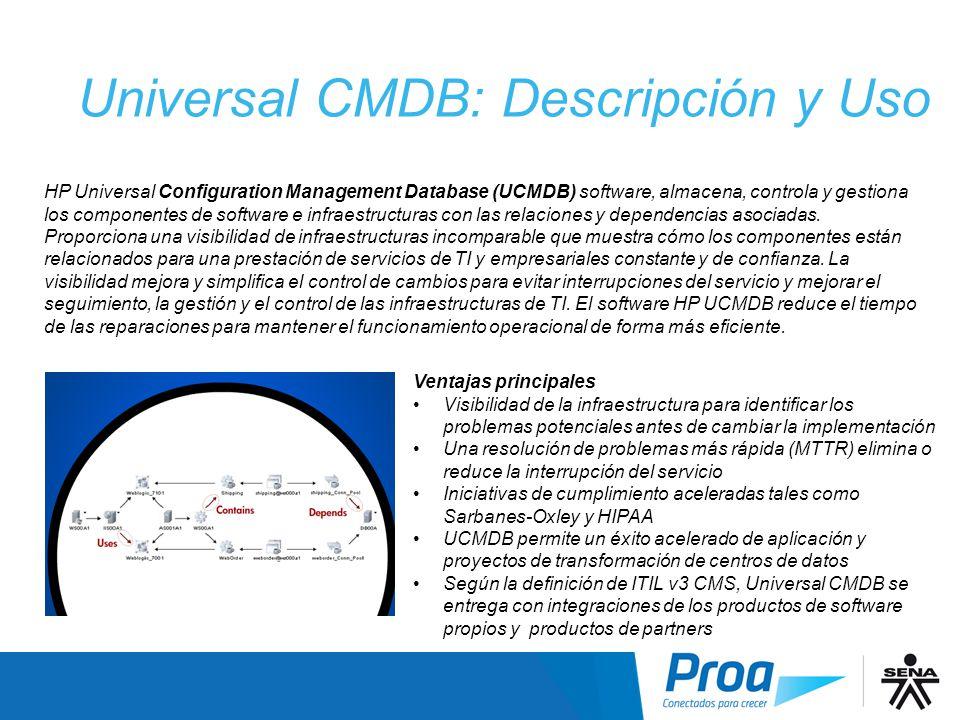 Universal CMDB: Descripción y Uso