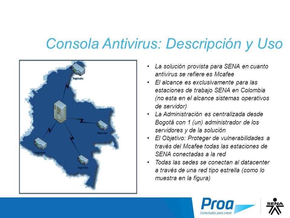 Consola Antivirus: Descripción y Uso