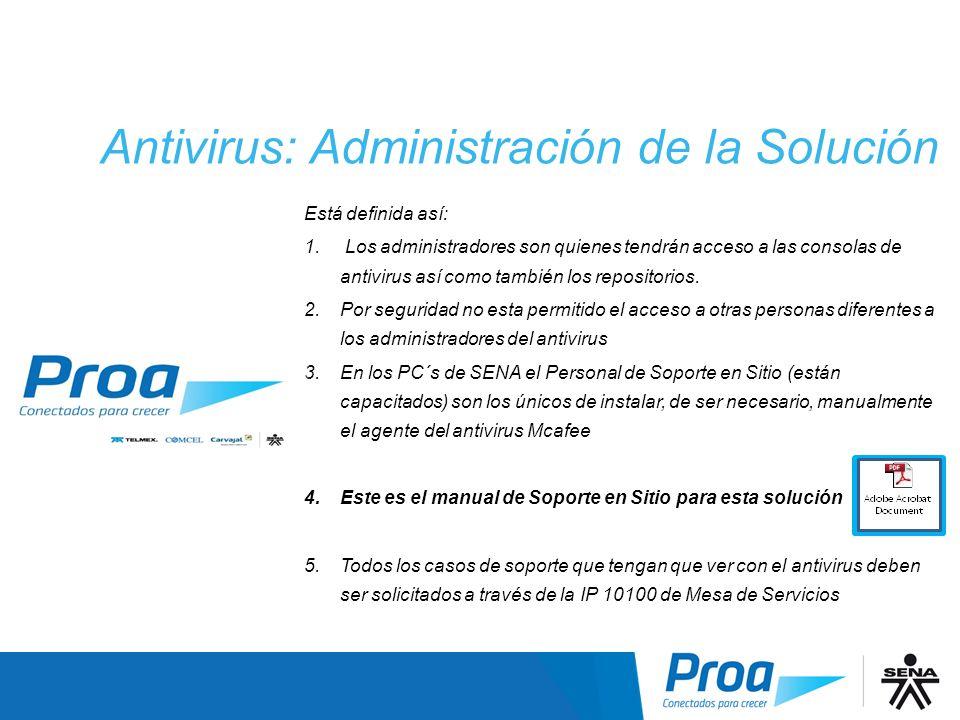 Antivirus: Administración de la Solución