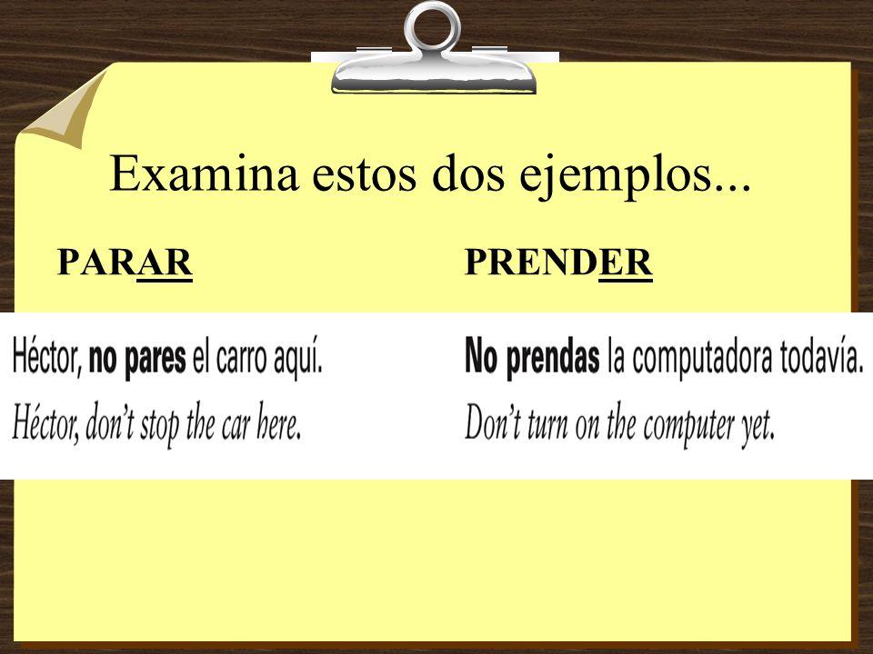 Examina estos dos ejemplos...