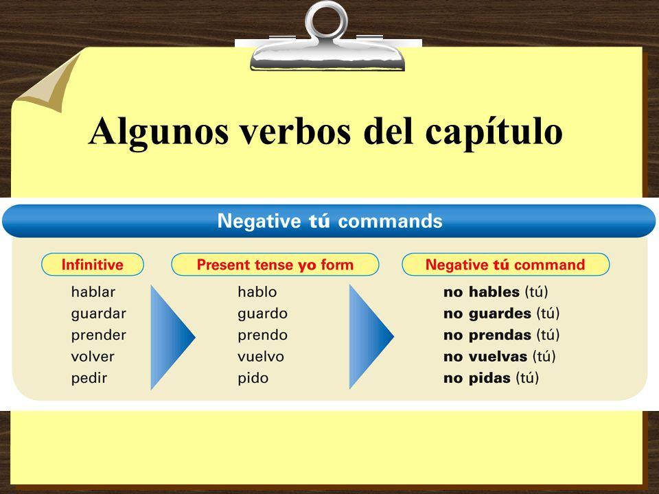 Algunos verbos del capítulo