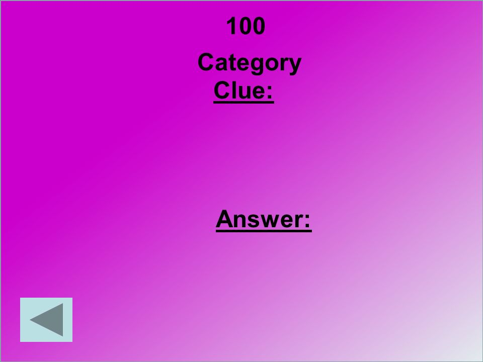100 Category Clue: Answer: