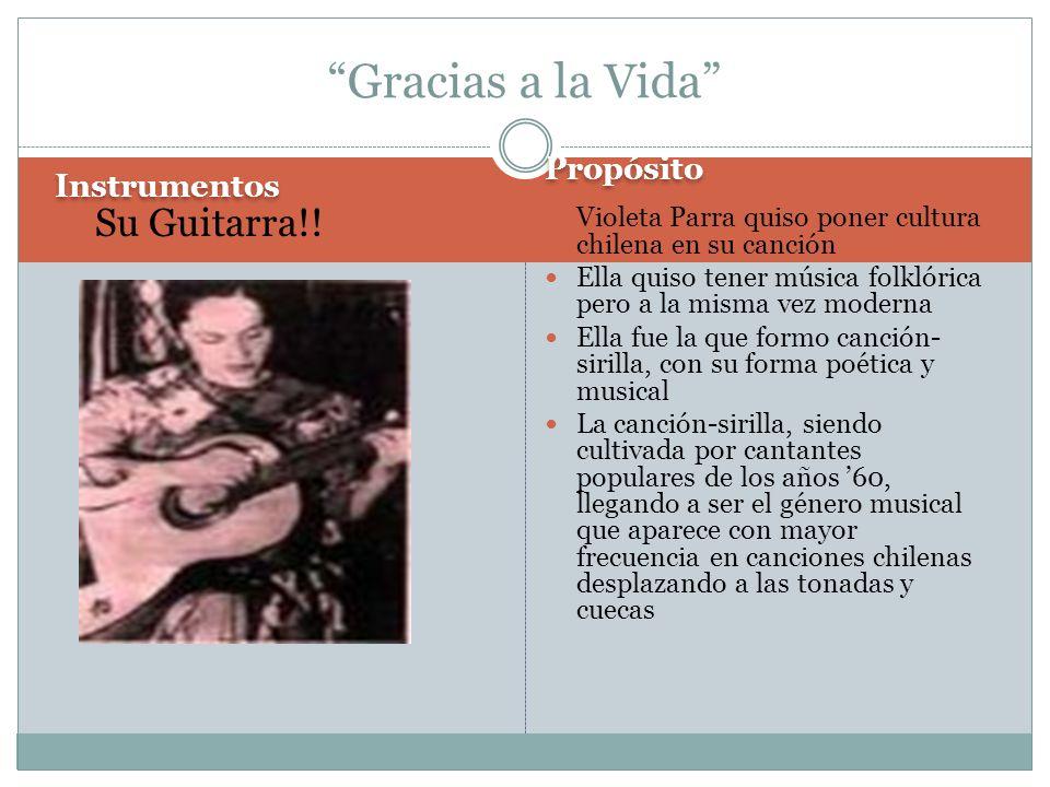 Gracias a la Vida Su Guitarra!! Propósito Instrumentos