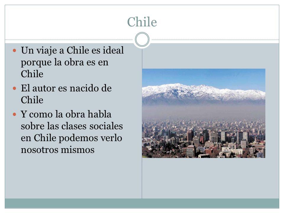 Chile Un viaje a Chile es ideal porque la obra es en Chile