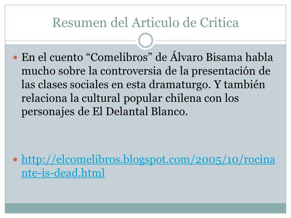 Resumen del Articulo de Critica